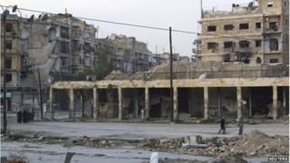Aleppo's Bab al-Hadeed district, 10 December 2014