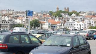 North Beach in car park in St Peter Port, Guernsey