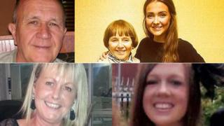 Jack Sweeney, Lorraine Sweeney with granddaughter Erin McQuade, Gillian Ewing and Stephenie Tait
