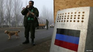 Pro-Russian separatist outside Horlivka (14 Dec)