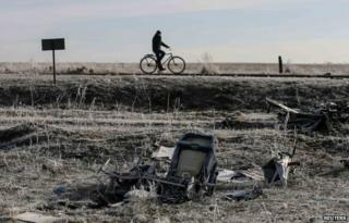 Wreckage of MH17 (15 Dec)