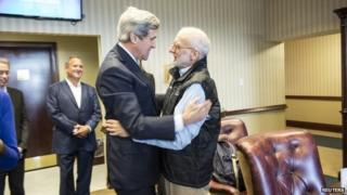 John Kerry and Alan Gross