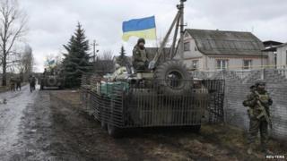 Ukrainian soldiers in Donetsk region, 24 Dec