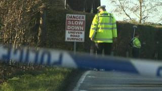 Scene of fatal motorbike collision in Tylers Road, Roydon