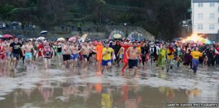 Tenby swimmers