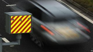 A car passes a speed camera on Sir Harry Lauder Road in Edinburgh