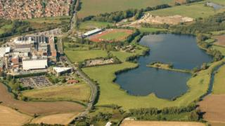 Aerial view of Conningbrook Lakes