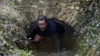 David Cameron at the annual Great Brook run in Chadlington