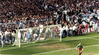 Hillsbrough disaster unfolding in 1989