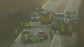 A6 Burton Latimer crash