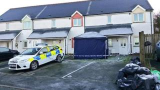The property in Cardigan where the body was found