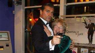 Jeanette Howse and James Bond lookalike