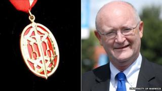 Medal for a knighthood and Nigel Thrift