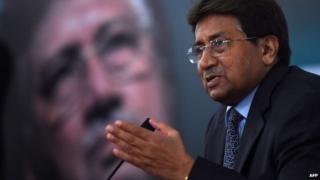 Pervez Musharraf addresses a youth parliament in Karachi on December 4