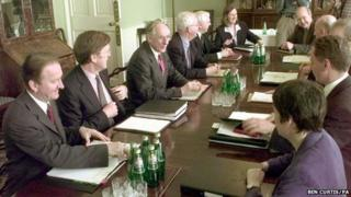 First Scottish Executive cabinet meeting in May 1999