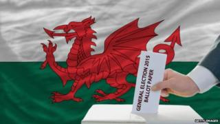 Voting ballot and Welsh flag