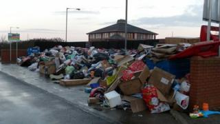 Fly-tipping at Coulby Newham