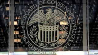The US Federal Reserve sign