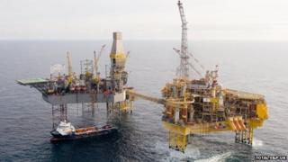 Total Elgin-Franklin oil and gas platform