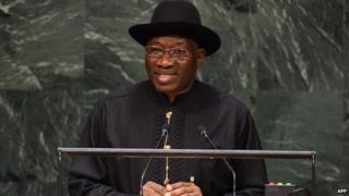 Nigeria's president, Goodluck Jonathan