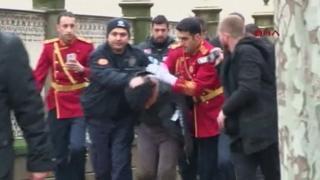 Suspect's arrest in Istanbul, 1 Jan 15