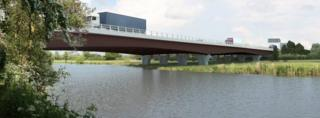 Planned bridge across the Great Ouse