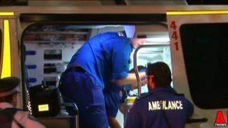 Patrick Lyttle is taken away by ambulance