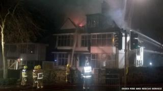 Fire at house in Westcliff-on-Sea