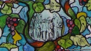 Close up of Churchill Window