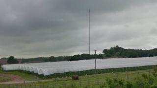 Transmission mast off Watling Street, Hints near Tamworth