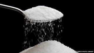 Generic picture of sugar on a spoon