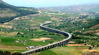 A viaduct in Sicily