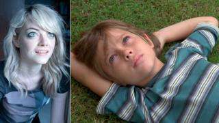 Emma Stone in Birdman and Ellar Coltrane in Boyhood