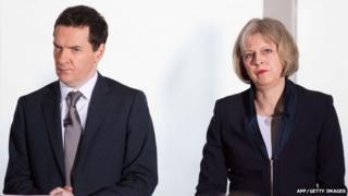 George Osborne and Theresa May