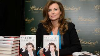 Valerie Trierweiler at a book signing in London in November