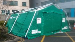 Tent at Great Western Hospital
