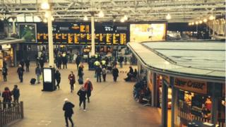 Waverley Station in Edinburgh