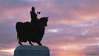 The Robert the Bruce statue at Bannockburn