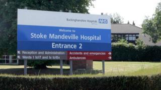 Stoke Mandeville Hospital sign