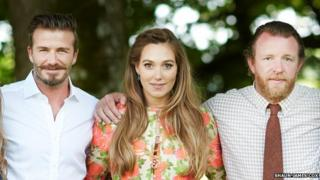 David Beckham, Guy Ritchie and Jacqui Ainsley