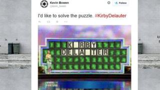 A tweet about Kirby Delauter by Kevin Bowen