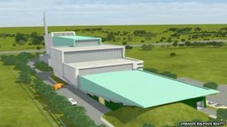 Artist's impression of the Javelin Park incinerator