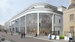 Artist's impression of de Gruchy store front in New Street
