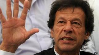 Pakistani cricketer-turned-politician Imran Khan