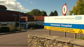 Axminster Hospital sign