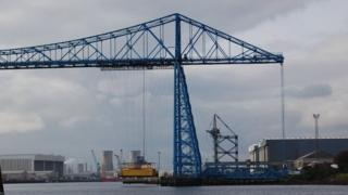 The Transporter Bridge and gondola