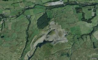 An aerial view of the quarry