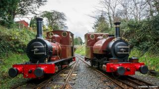 No.1 Talyllyn and No.2 Dolgoch in new livery
