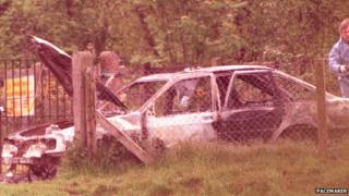 Car where Mr Brown's body was found