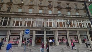 Howell's House of Fraser store, St Mary St, Cardiff